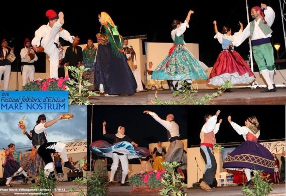 XVII FESTIVAL FOLKLORIC D'EIVISSA MARE NOSTRUM 2013 - Sa Colla Sant Miquel de Balansat - Agrupación Folclórica Ntra. Sra. Nieves Tanos Torrelavega - Grup de Dansa l'Alcudia - Grup Dansa Brocalet