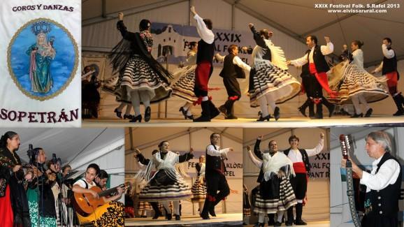 GRUPO Y COROS DE DANZAS SOPETRÁN DE ALHOMADÍN DE CACERES en el XXIX Festival Folklòric Sant Rafel 2013 - Ibiza (Eivissa)