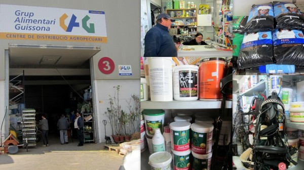 XICU I CATI C.B.  DESTRIBUCION DE PIENSOS IBIZA EIVISSA Grup Alimentari GUISSONA   (Centre de distribució Agropecuari)   Calle des Mayans, Nave 3   -  Polig. Montecristo 07816  Sant Rafel  -  Ibiza