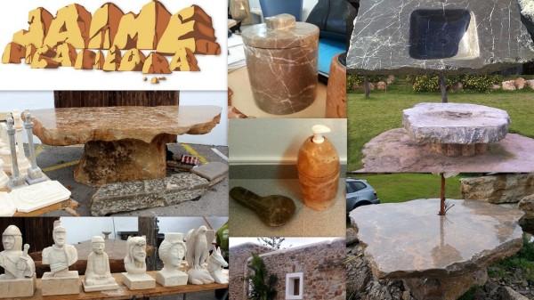 Jaime Picapiedra trabaja artesanalmente la piedra natural en Ibiza desde 1989