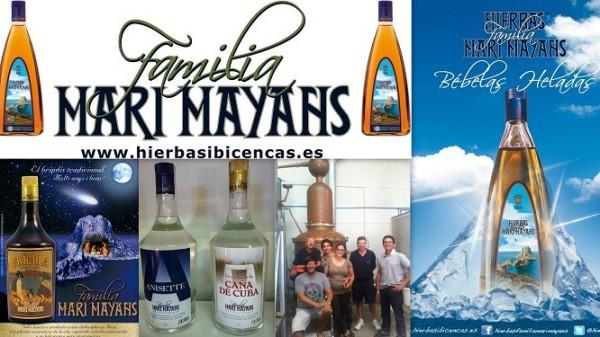 Familia MARI MAYANS Desde 1880 Carre des Mayans, 44  Nave 1 Pol. Montecristo  - Ibiza (Eivissa)  Telf. 971 103 574   Productores de numerosas bebidas, entre las que destacan sus especialidades, las hi