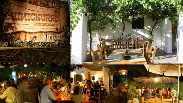 restaurante chimichurri en la playa de cala bassa ibiza eivissa