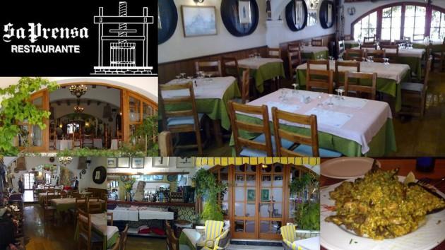 Restaurante SA PRENSA Calle Mariano Riquer,  9 07820  Sant Antoni  -  Ibiza (Eivissa) Telf.  (+34)   971 341 670     Ofreciendo desde 1980 comida ibicenca con pescados frescos, carnes, entrantes y pos