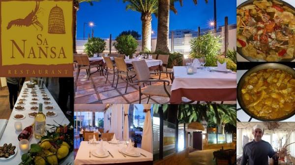 Restaurante SA NANSA Avenida Ocho de Agosto, 27 07800  Ibiza (Eivissa) Telf.  (+34)   971 318 750   Restaurante de Ibiza especializado en cocina ibicenca de mar, cocina mediterránea con pescados y mar