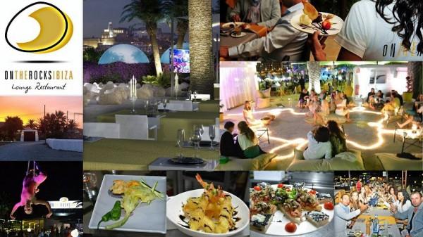Restaurante ON THE ROCKS IBIZA Avda. de La Paz, s/n Ibiza (Eivissa) Telf. (+34)  661 443 302 - 626 624 746   En el restaurante podrá degustar las mejores carnes, pastas, ensaladas y pescados de la is
