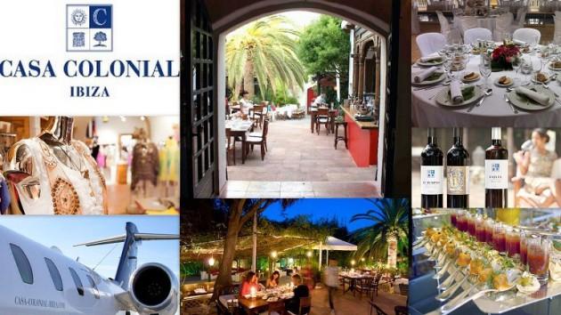 Restaurante CASA COLONIAL Crta. Santa Eulália km. 2 Ibiza (Eivissa) Telf.  (+34)  971 338 001 - 646 377 695   Casa Colonial Ibiza es sinónimo de la atmósfera relajada de un club, de un estilo caracte
