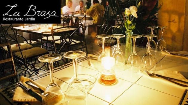 """Restaurante Jardin LA BRASA    """"Fundado en 1977"""" Calle Pere Sala, 3 07800   Ibiza (Eivissa) Telf.  (+34)  971 301 202   Cocina Mediterránea y tradicional con un toque vanguardista"""