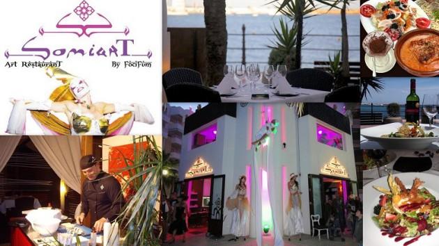 Restaurante SOMIART Art Restaurant by FociFum  Paseo Marítimo - Edf. Koala Santa Eulália - Ibiza (Eivissa) Telf.  (+34)  971 336 386 - 696 803 021   Exquisiteces del Mundo con un toque Mediterraneo