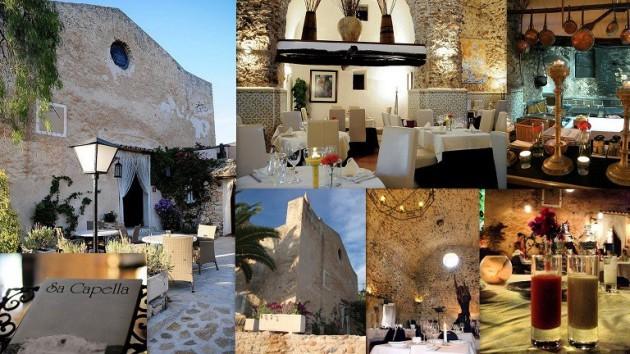 Restaurante SA CAPELLA   Ctra. San Antonio - Santa Ines km. 0,500 Sant Antoni - Ibiza (Eivissa) Telf. 971 34 00 57     Restaurante a las afueras de Sant Antoni en una Iglesia antigua del siglo XVIII