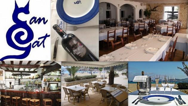 Restaurante CAN GAT Playa Cala de Sant Vicent   07811  Sant Vicent de Sa Cala  -  Ibiza (Eivissa)   Telf.  971 320 123   - Especialidad en Pescados y Mariscos -