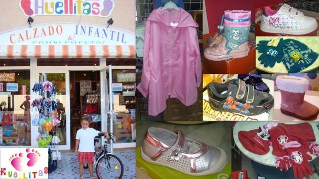 Calzado Infantil HUELLITAS    Avenida Sant Agustí,  164 07830  Cala de Bou  -  Ibiza (Eivissa) Telf.  (+34)  971 594 911  -  672 310 155     Calzado y complementos infantiles y juveniles