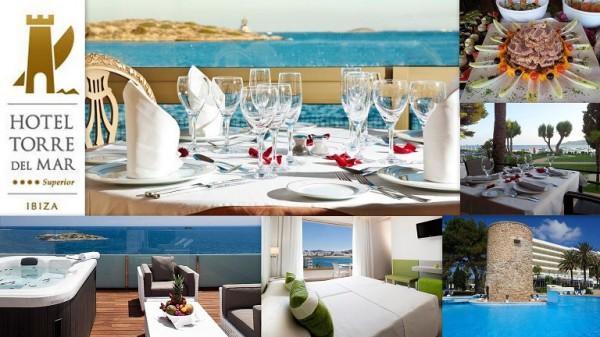 Hotel TORRE DEL MAR   ****Superior  Playa del Bossa s/n 07800  Ibiza (Eivissa) Telf.  (+34)  971 30 30 50   En Hotel Torre del Mar (Playa d'en Bossa Ibiza), su principal objetivo es que su estancia se