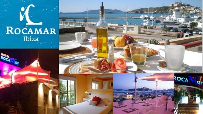 Hotel ROCAMAR    Calle Iboshim, 11 Paseo Marítimo Juan Carlos I 07800  Ibiza (Eivissa)                     Telf.  (+34)  971 317 922   Rocamar Ibiza cuenta con unas renovadas instalaciones a disposic