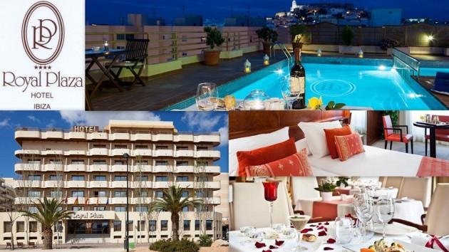 Hotel ROYAL PLAZA  ****      Calle Pedro Frances, 27 - 29 07800 Ibiza (Eivissa)                     Telf.  (+34)  971 31 00 00   En pleno centro de Ibiza, es un lugar fantástico desde el cual disfrut