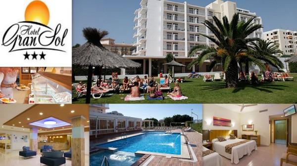 Hotel GRAN SOL ***    Calle Soledad, 49 07820  Sant Antoni  -  Ibiza (Eivissa)                     Telf.  (+34)  971 34 11 08   Es un hotel en el que la estancia resulta muy agradable, destacando la