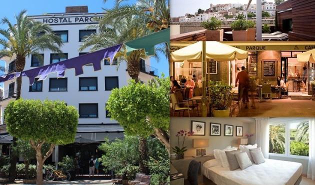 Hostal PARQUE      Plaza del Parque, 4 07800 Ibiza (Eivissa)                     Telf.  (+34)  971 30 13 58    Hostal ubicado en el centro de Ibiza, donde los encuentros pueden convertirse en amores