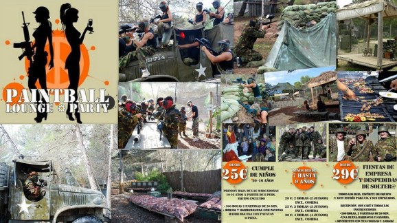 PAINTBALL Lounge party Calle Romani,  Gala Night (Ses Paises) Sant Antoni - Ibiza (Eivissa)   Telf.  (34) 971 804 731     info@paintballloungeparty.com
