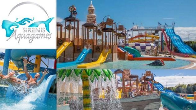 """SIRENIS AQUAGAMES IBIZA ¡Nuevo parque acuático en Ibiza!   El nuevo parque acuático """"Sirenis Aquagames"""" está situado en el conocido hotel  Sirenis Seaview Country Club, de 4* de Port des Torrent,"""