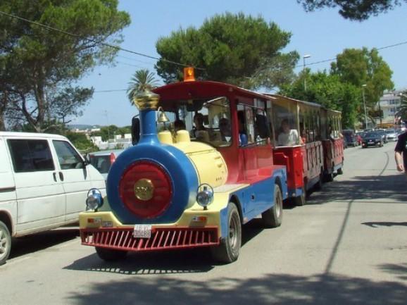 MINI-TREN IBIZA EXPRESS Excursiones con salidas desde Playa Es Canar y Santa Eulária, pasando por Sant Carlos, Pou des Lleó, Cala Boix, Cala Mastella, Cala Llenya Telf.  971 339 772     607 654 321 tr