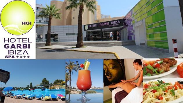 Hotel GARBI Ibiza & Spa ****   Calle de La Murtra,  5 07817   Playa den Bossa  -  Ibiza (Eivissa) Telf.  (+34)  971 395 862   Muy bien situado en primera línea de mar.